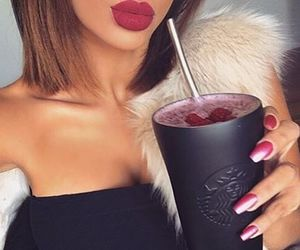 nails, starbucks, and drink image