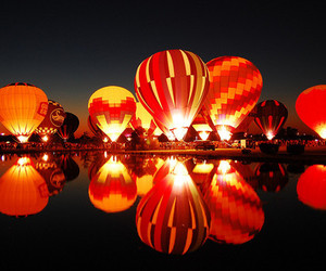 photography, balloons, and light image