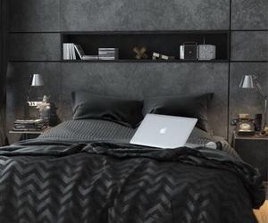 bedroom, black, and room image