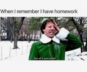 funny, homework, and school image