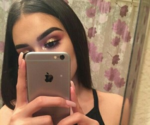 beauty, eyebrows, and iphone image
