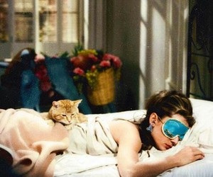 audrey hepburn, sleep, and Breakfast at Tiffany's image