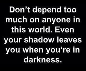 quotes, shadow, and Darkness image