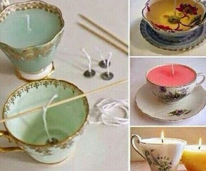 diy, candle, and cup image