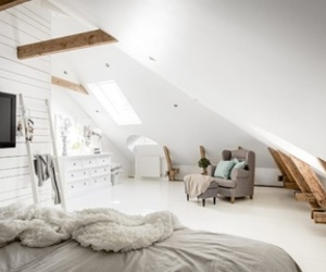 white, apartment, and bedroom image