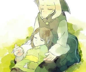 chara, undertale, and asriel dreemurr image