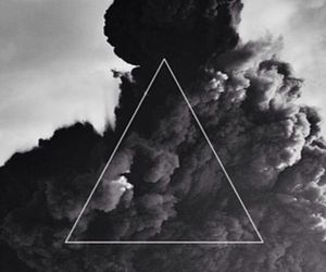 triangle, wallpaper, and smoke image