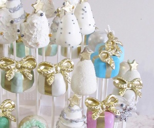 blue, cake, and cake pops image