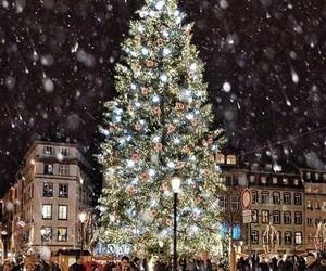christmas, snow, and beautiful image