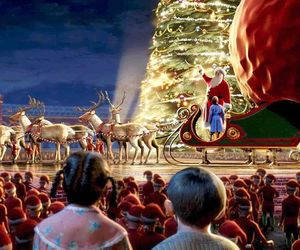 christmas, the polar express, and santa image
