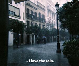 blue, rain, and love image