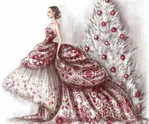 art, christmas, and dress image