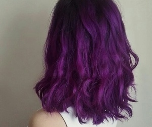 hair, violet, and hairstyle image