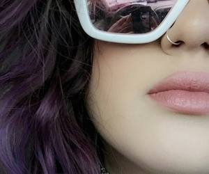 cool, hair, and violet image