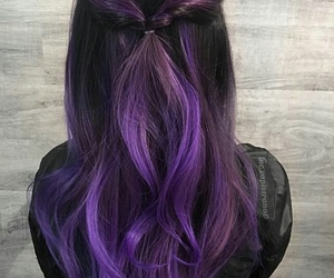 hair, hairstyle, and violet image