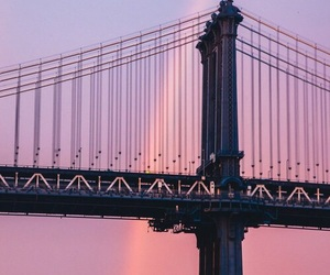 pink, rainbow, and travel image