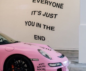 beauty, car, and pink image