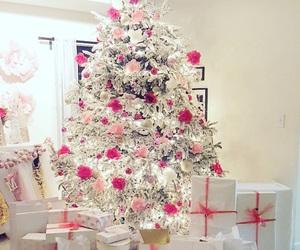 chic, christmas lights, and christmas tree image