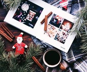 christmas tree, reindeer, and snow image