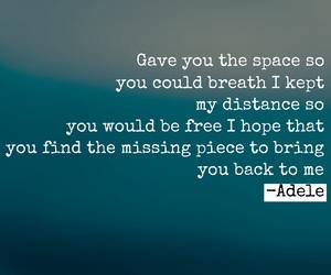 Adele, easel, and Lyrics image