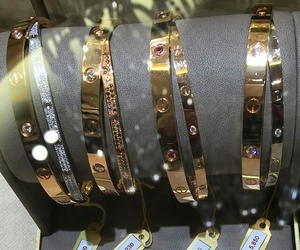 gold, luxury, and bracelet image