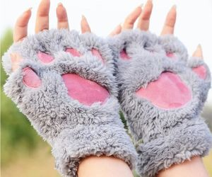 cute, gloves, and cat image