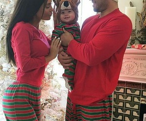 family, baby, and christmas image