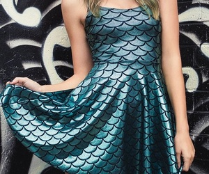 blue, dress, and mermaid image