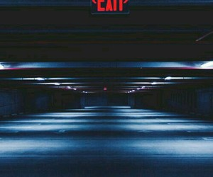 exit, aesthetic, and red image