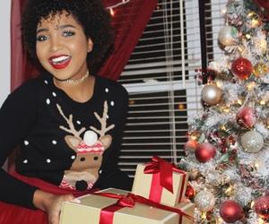 christmas, eyebrows, and holiday image