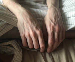 hands, veins, and pale image
