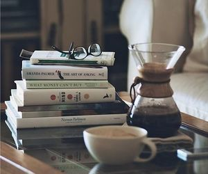 books, coffee, and livres image