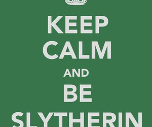 harry potter, slytherin, and keep calm image