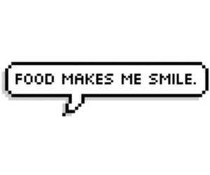 food, smile, and overlay image