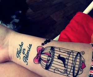 bird cage, Tattoos, and birds image