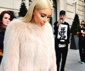 kim kardashian, kardashian, and blonde image