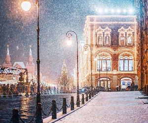 moscow, winter, and christmas image