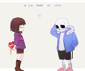 undertale and couple image