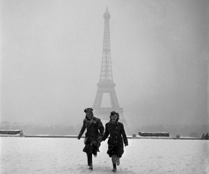 love, paris, and snow image