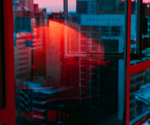 red, aesthetic, and city image