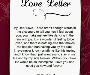 love letter, romantic love letters, and love letters for him image