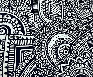 art, drawing, and zentangle art image