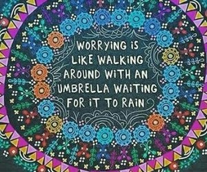 quote and rain image
