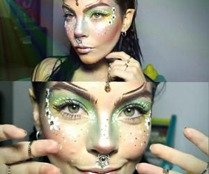 makeup, fantasy makeup, and elf makeup image