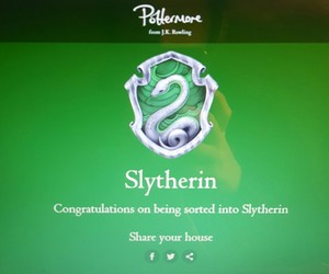 harry potter, slytherin, and pottermore image
