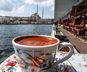 beautiful, coffee, and ocean image