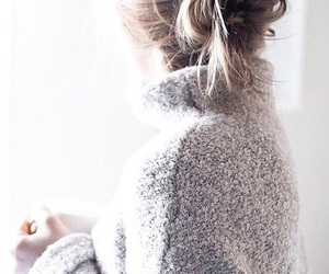 girl, sweater, and cozy image