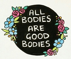 body, quotes, and flowers image