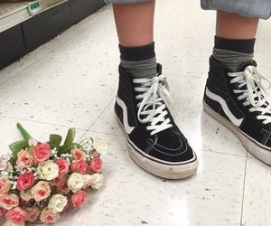 girl, vans, and aesthetic image