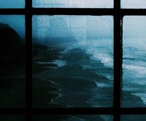 window, dark, and ocean image